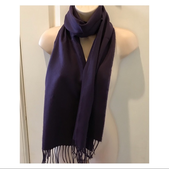 130a7cc60 Accessories | 100 Cashmere Dark Purple Scarf | Poshmark